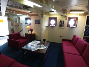Captains quarters, where Pres. Roosevelt stayed while on board
