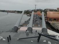 Battleship Iowa in Los Angeles harbor