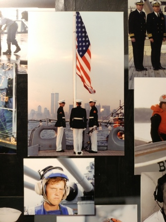 9-11 memorial photo on the USS Iowa, taken from her decks.