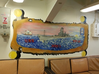 Mural in the Masterchiefs lounge