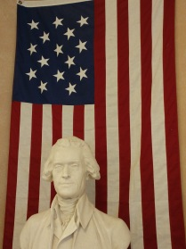 Thomas Jefferson bust at the Lewis and Clark interpretive Center in Great Falls Montana