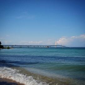Big Mac, or Mighty Mack aka Mackinac Bridge. I am standing on the Lake Huron side.